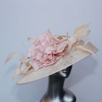 Mother of the Bride hatinator in pink and champagne 13978/SD310
